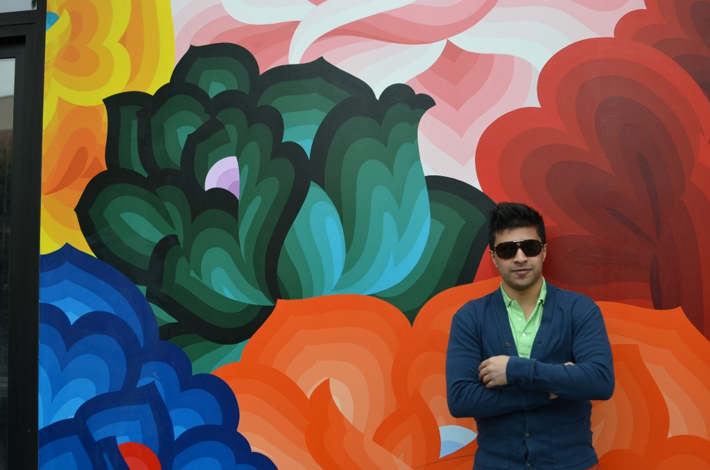 Siddharth in front of Mission mural